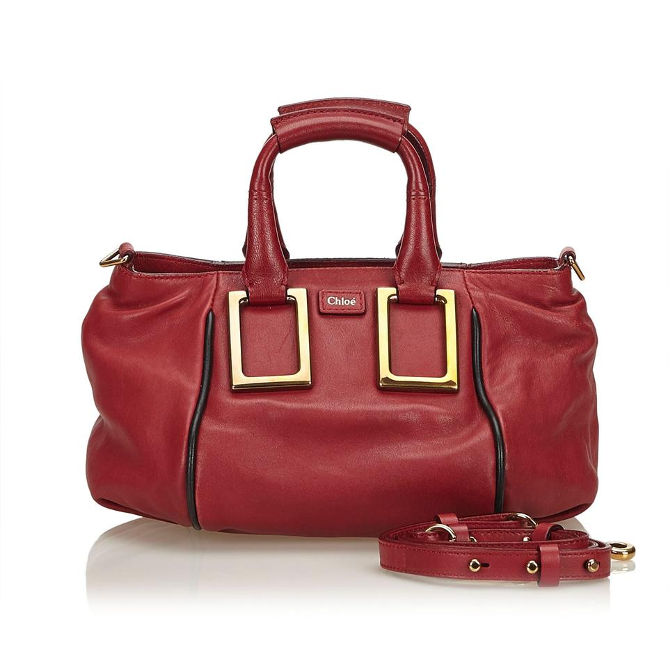 d4923c2342 Chloé Ethel Red Leather X Others Satchel - Tradesy