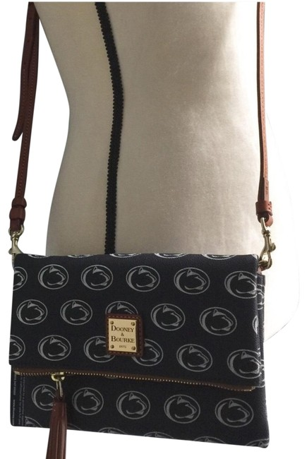 Item - Blue White Faux Leather Cross Body Bag