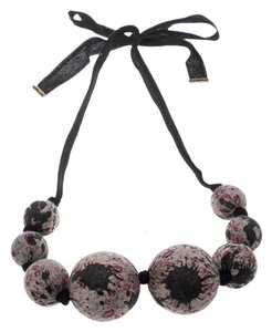 Louis Vuitton Multicolor Beaded Fabric Tie- Up Statement Necklace