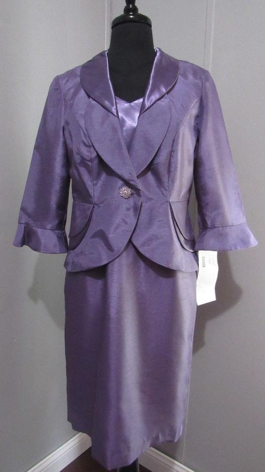 Dana Kay Purple Polyester Womens 2 Piece Jacket Casual Bridesmaid