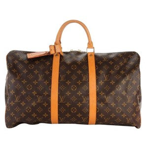 Louis Vuitton Duffle Monogram Canvas Brown Travel Bag