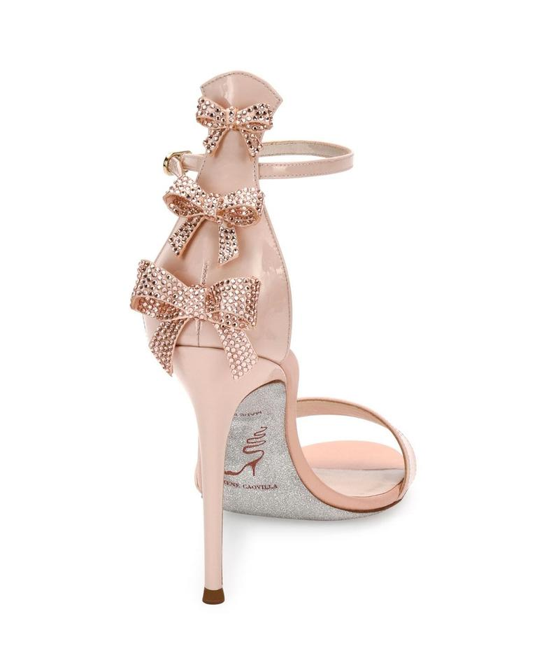 02c0b1c091e87 Rene Caovilla Pink Crystal-bow Patent 105mm Sandals Size EU 38 (Approx. US  8) Regular (M, B) 60% off retail
