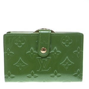Louis Vuitton Vert Tonic Monogram Vernis Port Feuille Vienoise French