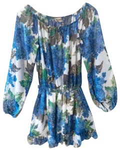 Show Me Your Mumu short dress Blue and Green on Tradesy
