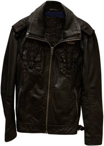 Super Dry black Leather Jacket