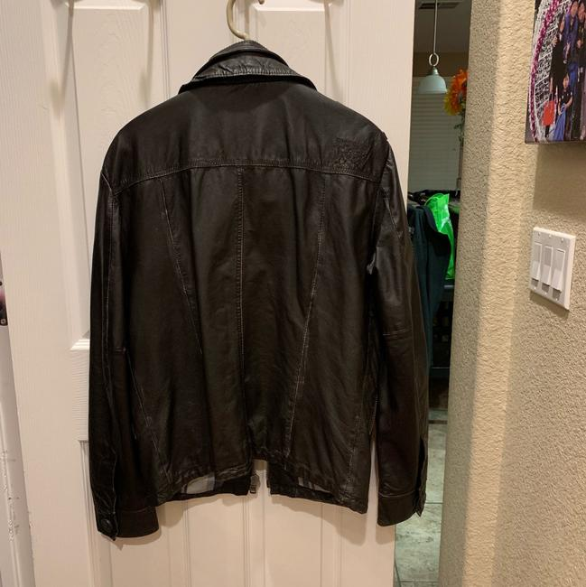 Super Dry brown Leather Jacket Image 1
