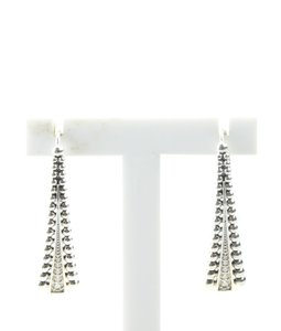 Lagos Lagos Spark Linear Wire Earrings 925 Diamond Earrings (160321)
