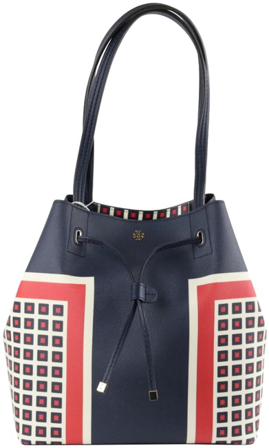 Item - Kerrington Bucket Milano Square Blue Faux Leather Tote