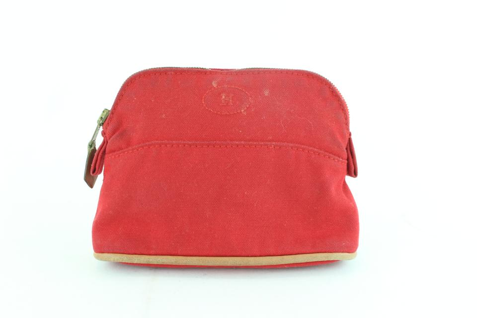 6f773597bbf3 Hermès Make Up Toiletry Cosmetic Trousse Pouch Red Clutch Image 0 ...