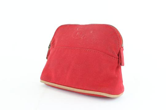 Hermès Make Up Toiletry Cosmetic Trousse Pouch Red Clutch Image 1