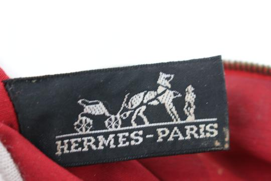 Hermès Make Up Toiletry Cosmetic Trousse Pouch Red Clutch Image 2