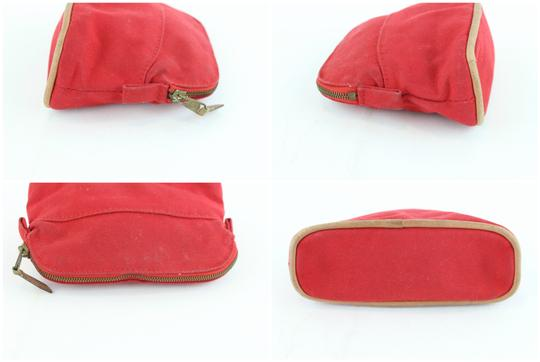 Hermès Make Up Toiletry Cosmetic Trousse Pouch Red Clutch Image 5