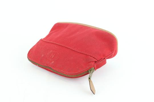 Hermès Make Up Toiletry Cosmetic Trousse Pouch Red Clutch Image 6