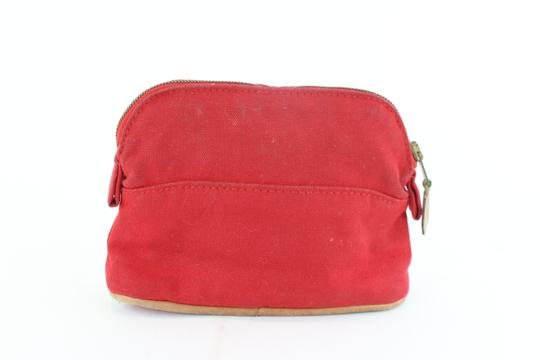 Hermès Make Up Toiletry Cosmetic Trousse Pouch Red Clutch Image 8