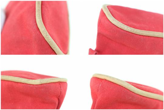 Hermès Make Up Toiletry Cosmetic Trousse Pouch Red Clutch Image 9