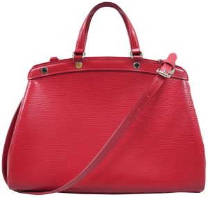Louis Vuitton Lv Brea Epi Mm Satchel in Red