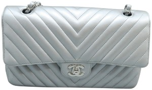 Chanel Double Cf Caviar Shoulder Bag
