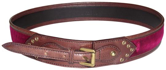 Preload https://img-static.tradesy.com/item/24429490/gucci-brown-leather-and-burgundy-velvet-with-a-studded-brass-equestrian-motif-buckle-vintage-beltdes-0-1-540-540.jpg