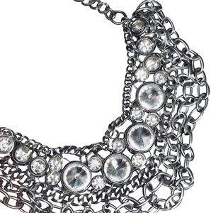 Camille Marie Sterling multi-layered chocker with stones