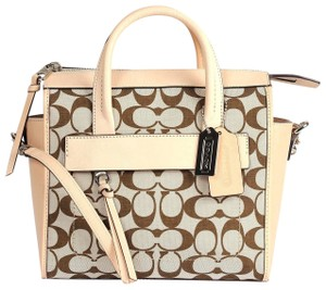 Coach Fabric/Leather Khaki/Vachetta 888067276534 Satchel in KHAKI/Vachetta