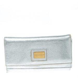 Dolce&Gabbana Silver Leather Continental Wallet
