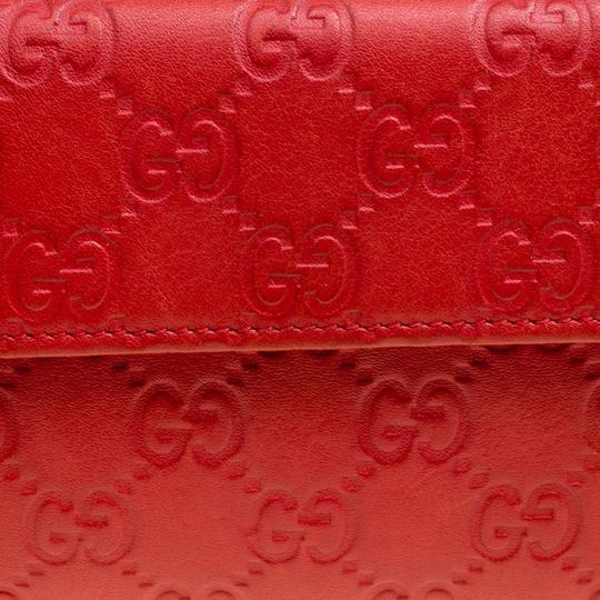 Gucci Red Guccissima Leather Wallet