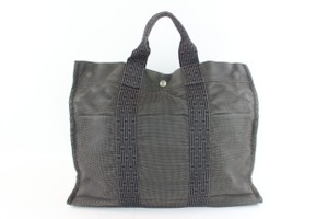 Hermès Foure Four Tout Cabas Tote in Grey
