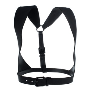 MCQ by Alexander McQueen Black Leather Harness Belt Size S