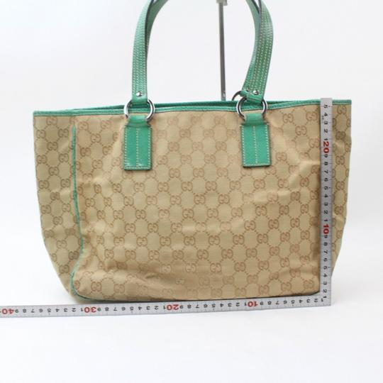 Gucci Shopper Eclipse Marmont Sylvie Soho Tote in Green Image 10