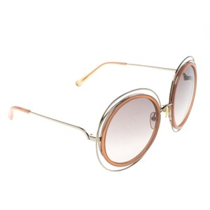 Chloé Gold/Brown Gradient CE120S Carlina Oversized Round Sunglasses