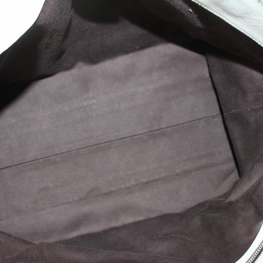 Gucci Belt Buckle Shopper Large Shopping Tote in White Image 10