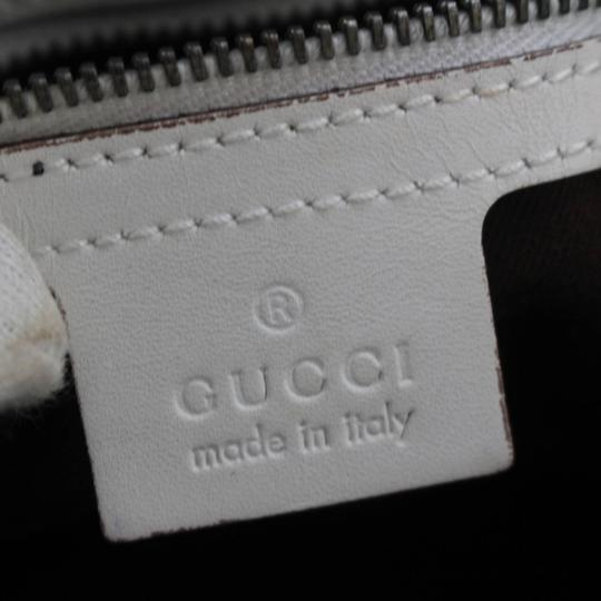Gucci Belt Buckle Shopper Large Shopping Tote in White Image 9