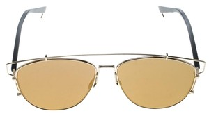 Dior Gold/Brown RHL 38 Technologic Aviator Sunglasses