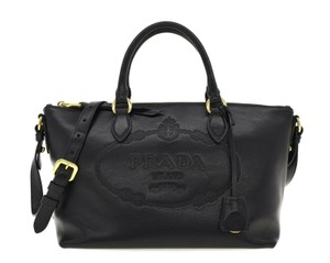 Prada Satchel Oversized Logo Shoulder Bag