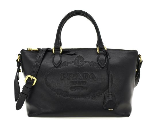 Prada Satchel Oversized Logo Shoulder Bag Image 0