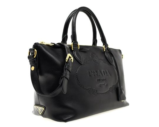 Prada Satchel Oversized Logo Shoulder Bag Image 1