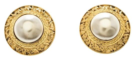 Preload https://img-static.tradesy.com/item/24430115/chanel-gold-cc-vintage-textured-faux-pearl-plated-clip-on-stud-earrings-0-1-540-540.jpg