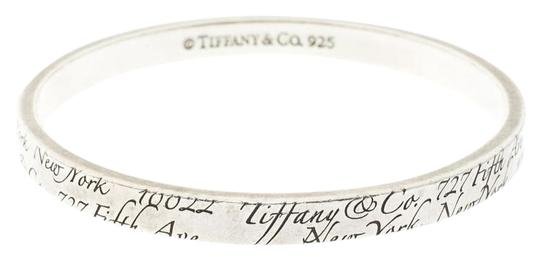 Preload https://img-static.tradesy.com/item/24430126/tiffany-and-co-silver-notes-engraved-bangle-19cm-bracelet-0-1-540-540.jpg