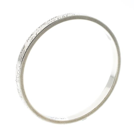 Tiffany & Co. Notes Engraved Silver Bangle Bracelet 19cm