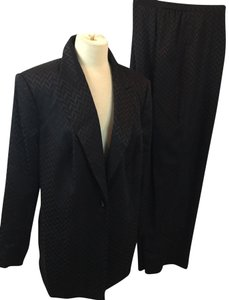 Lord & Taylor Lord & Taylor BLACK SATIN EVENING PANT SUIT