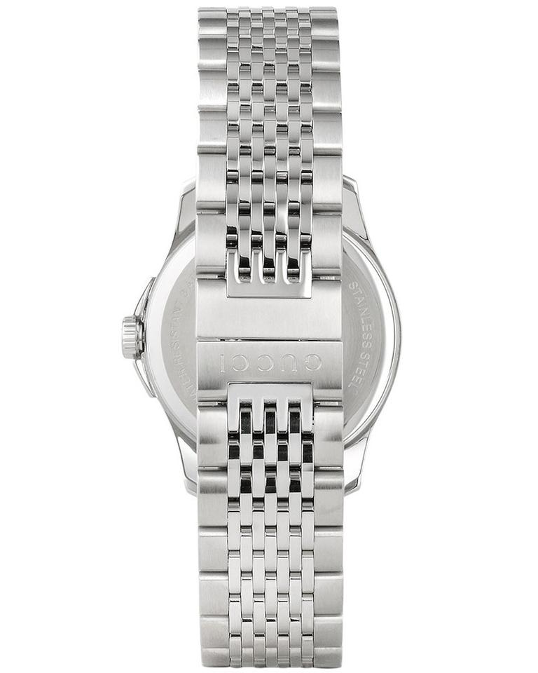d3285bf0218 Gucci Stainless Steel Silver Bracelet Black Dial G-timeless Ya126502 ...
