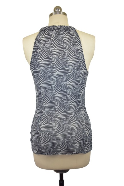 Sweet Pea by Stacy Frati Cowl Neck Sleeveless Mesh Top Black Image 3