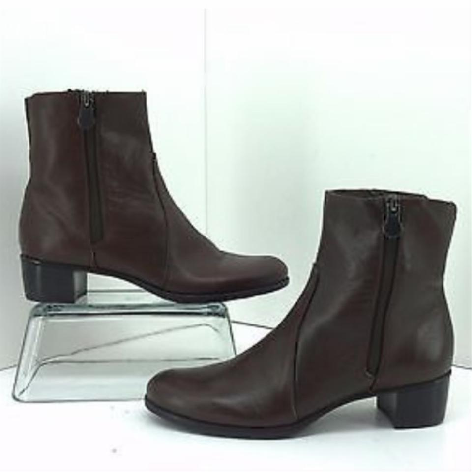 c9a70914227 Munro Brown Women s Linda Leather Boots Booties Size US 6 Wide (C