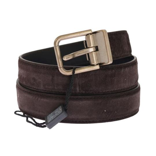Dolce&Gabbana Brown D11037-3 Leather Gold Buckle Belt (110 Cm / 44 Inches) Groomsman Gift Image 1