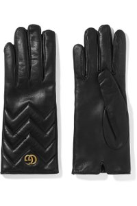Gucci Brand New - Gucci Marmont Leather Gloves - Size 6.5
