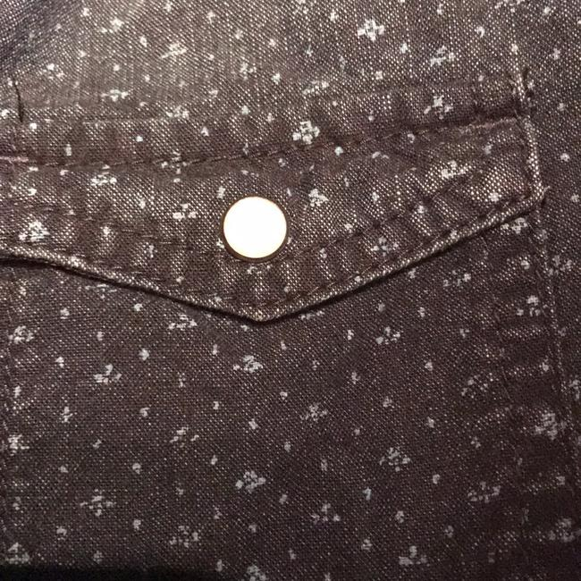 American Eagle Outfitters Button Down Shirt Blue Image 3