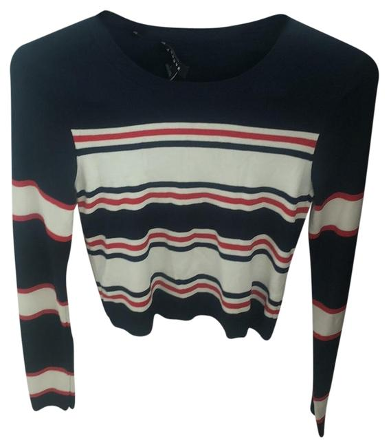 Preload https://img-static.tradesy.com/item/24430530/trouve-blue-white-red-sweater-0-1-650-650.jpg