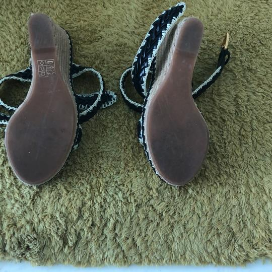 Tory Burch black and natural Wedges Image 2