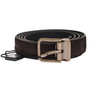 Dolce&Gabbana Brown D11037-4 Leather Gold Buckle Belt (85 Cm / 34 Inches) Groomsman Gift