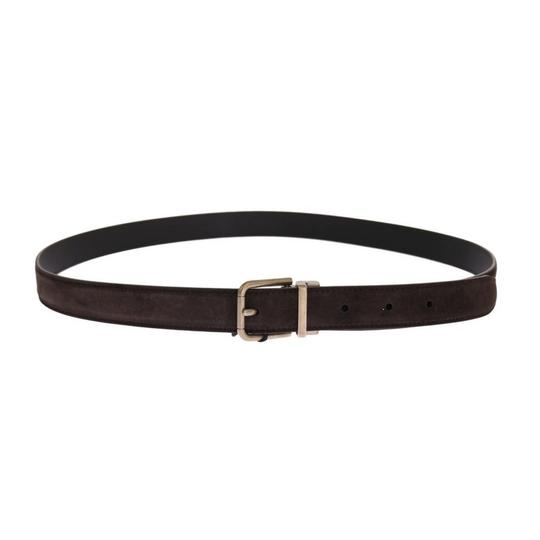 Dolce&Gabbana Brown D11037-4 Leather Gold Buckle Belt (85 Cm / 34 Inches) Groomsman Gift Image 2